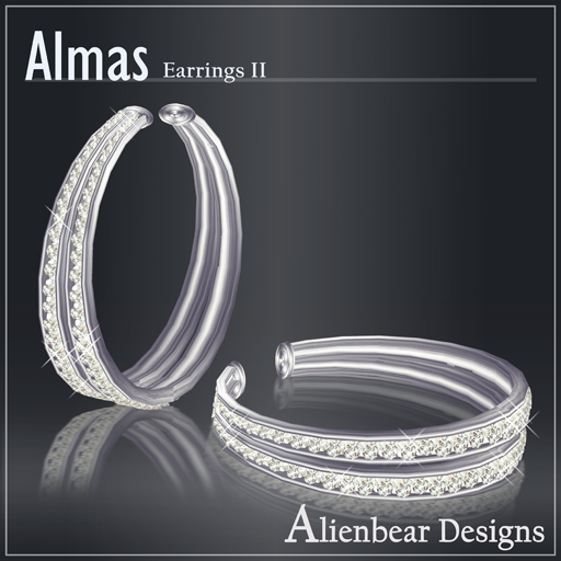 Almas earrings II white