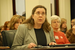 Bev May testifying before the House Health and Welfare Committee