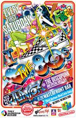 I Love The 80s at the Waterfront Bar Flyer Art [DJ Junior The DiscoPunk] (Mel Marcelo) Tags: vectorart eighties clubflyer adobeillustrator ironfist waterfrontbar ilovethe80s melito melmarcelo customprintingservices djjuniorthediscopunk