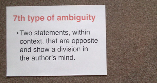 Empson, the 7th type of ambiguity & literacies