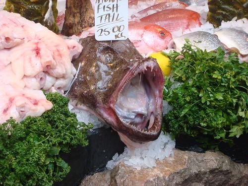 fish head at Borough Market