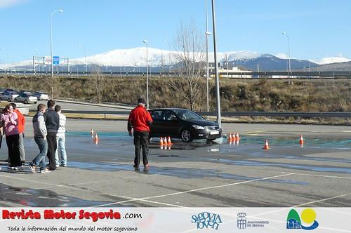 Foto:Los cursos de conducción hacen afrontar situaciones de riesgo con menor impacto personal. Curso realizado en Febrero en Segovia