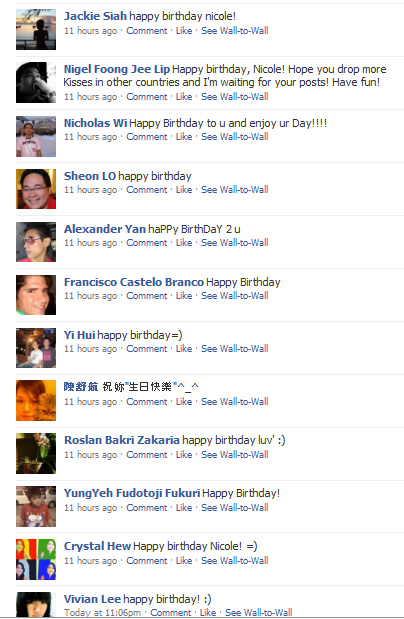 My Facebook Birthday Wishes