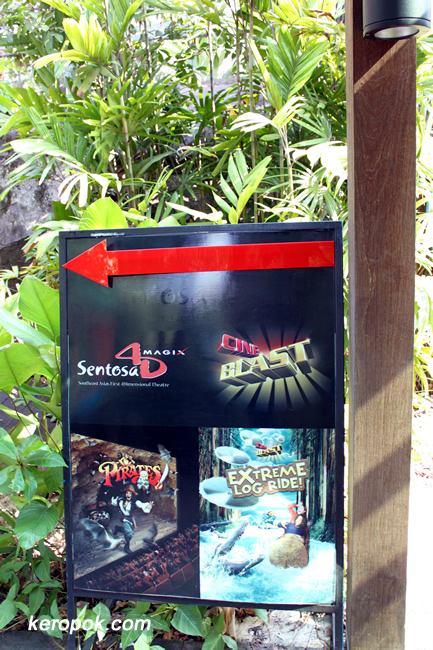 Sentosa, 4D Magix, Extreme Log Ride, Desperados
