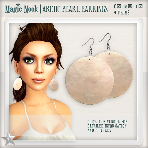 [MAGIC NOOK] Arctic Pearl Earrings