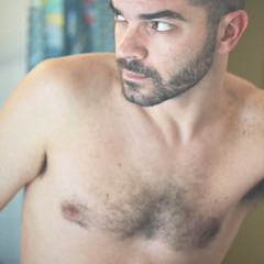 Pecho flickr hombre peludo