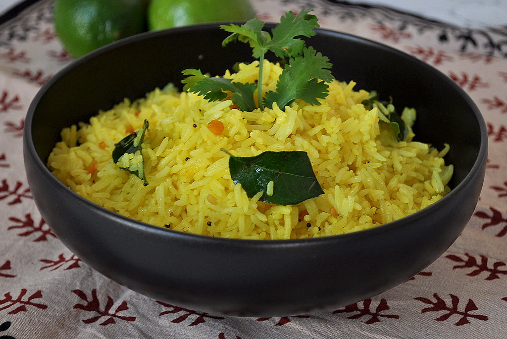 Lemon Rice Close up