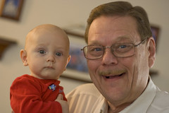 Logan and Grandpa Glenn
