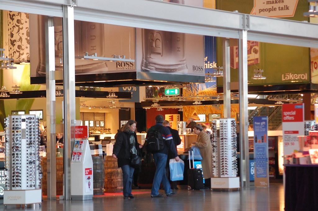 Duty-free shopping at Arlanda Airport, Sweden