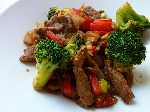 ... Good Mall: Chinese Beef and Broccoli with Onions and Red Bell Pepper