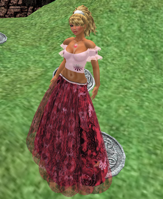 Kastle Rock Couture Daydream-Forever August dark long skirt March 13 2010