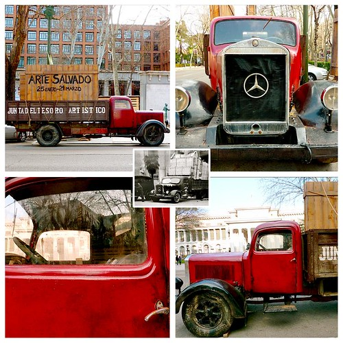 Arte Salvado collage ~ red truck