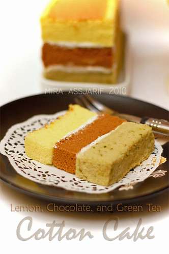 Cotton Cake (Lemon, Chocolate, Green Tea)