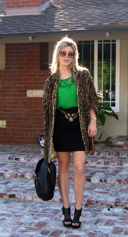 st patricks day green outfit leopard coat-8crop