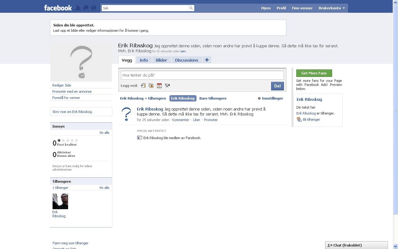 facebook slettet