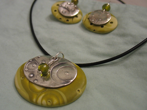 Earrings and pendant set #2
