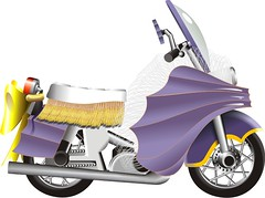 Batgirl Cycle (kennetzel) Tags: startrek comics tv batman batgirl adamwest burtward yvonnecraig batcycle batgirlcycle