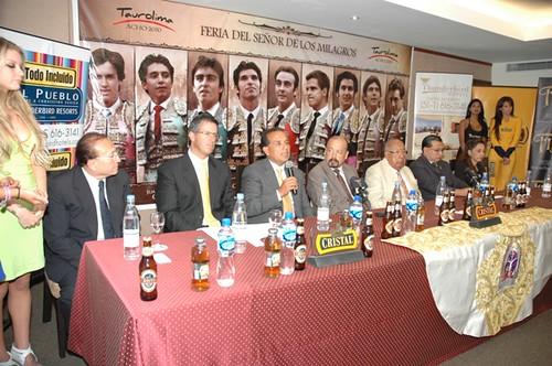 Conferencia de prensa Acho, Lima 2010
