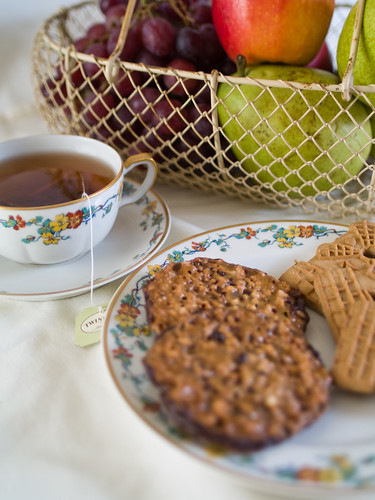 Tea and Cookies with Nana's Good China
