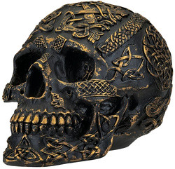 PASSAGE OF LIFE SCULPTURE CELTIC SKULL ART www.NEO-MFG.com