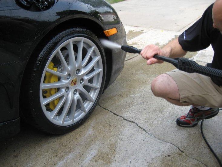 porsche wheels rinse