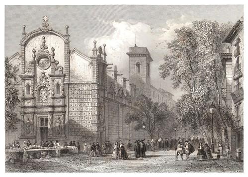 003-Barcelona La Rambla-Voyage pittoresque en Espagne et en Portugal 1852- Emile Bégin