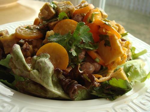 CSA Winter 7: Mixed Beans Salad With Kotobuki Sweet Potato & Kumquat