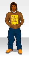 Brown Hoodie (Erlen Masson) Tags: illustration hoodie boots timberland dieseljeans starinthehood baggyjeabs