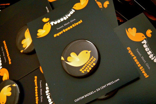 Buttons for @YVRTwestival