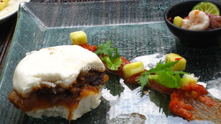 Super yummy pork sandwich at Ubud Hanging Gardens