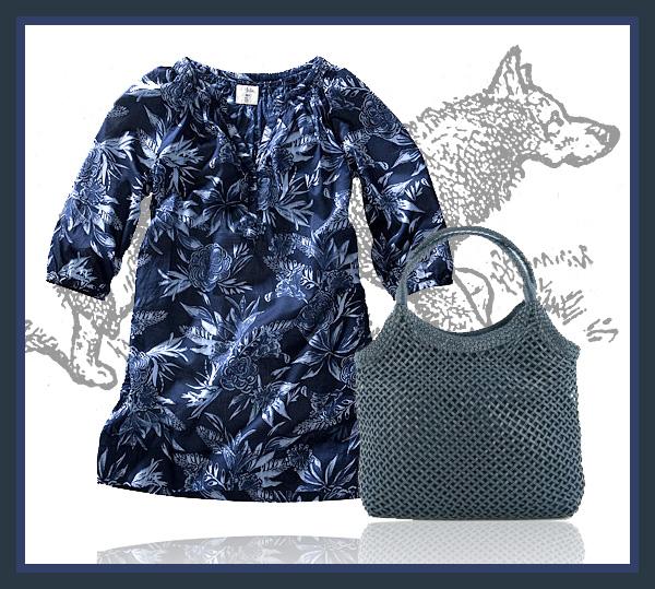 Blå-kläder