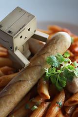 IMG_2165_copy (Addixon777) Tags: food tomato sausage pasta 100mm eat danbo danboard