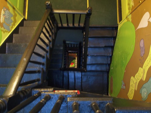 Carlton Arms Hotel stairs