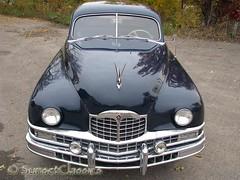 Looking Down on a 1949 Packard Limo (Sunset Classics) Tags: auto blue classic car forsale president luxury rare limousine 1949 packard harrytruman autoglamma custom8 customeight