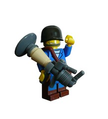 TF2: Soldier (BLU) V2 (Hessianizer) Tags: 2 two orange soldier team war lego box blu united valve builders rocket update fortress league launcher tf2 demoman