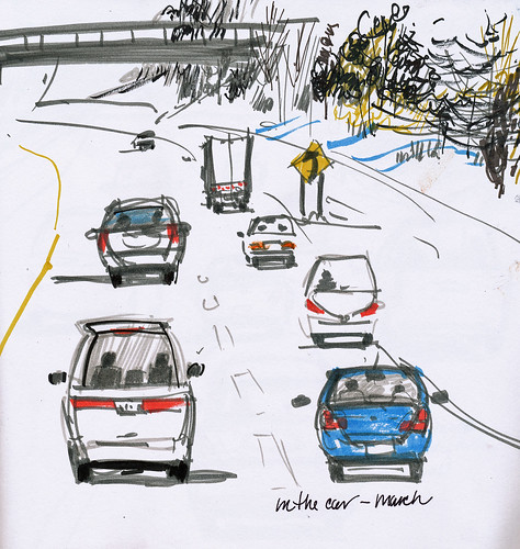In the car: March