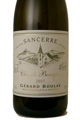 """2007 Gerard Boulay """"Clos du Beaujeu"""" Sancerre Chavignol"""