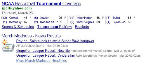 yahoo sports rich results