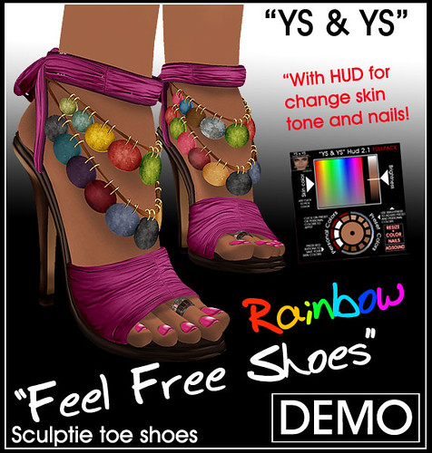 YS&YS New FeelFree Rainbow Shoes