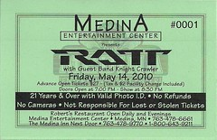 05/14/10 Ratt/Knight Crawler @ Medina, MN (Ticket)