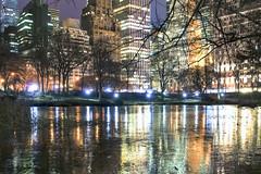 new york city (mudpig) Tags: nyc newyorkcity longexposure newyork reflection tree ice skyline night geotagged cityscape centralpark plazahotel thepond sherrynetherland mudpig stevekelley