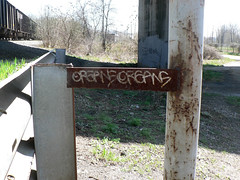 organs (No Real Name Given.) Tags: railroad art train pencil bench dead graffiti chalk streak drawing grease half oil rails stick boxcar hobo freight moniker benching