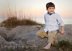Ft. Fisher (DocUNC) Tags: ocean boy sunset summer portrait beach colors canon kid rocks child backdrop 5d docunc