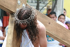 Mexico City -- Catholic reenactment of Christ's death