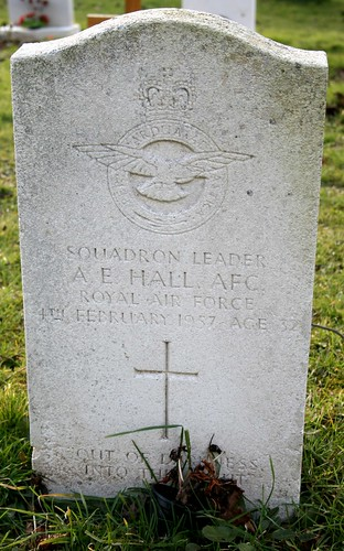 Grave of Squadron Leader A E Hall