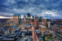 Downtown Minneapolis Skyline from Marquette (Greg Benz Photography) Tags: cloudysky minneapolissunset marquetteave hdrskyline minneapolishdr minneapolisskyscrapers downtownminneapolisskyline carbonsilverphotography minneapolisatdusk