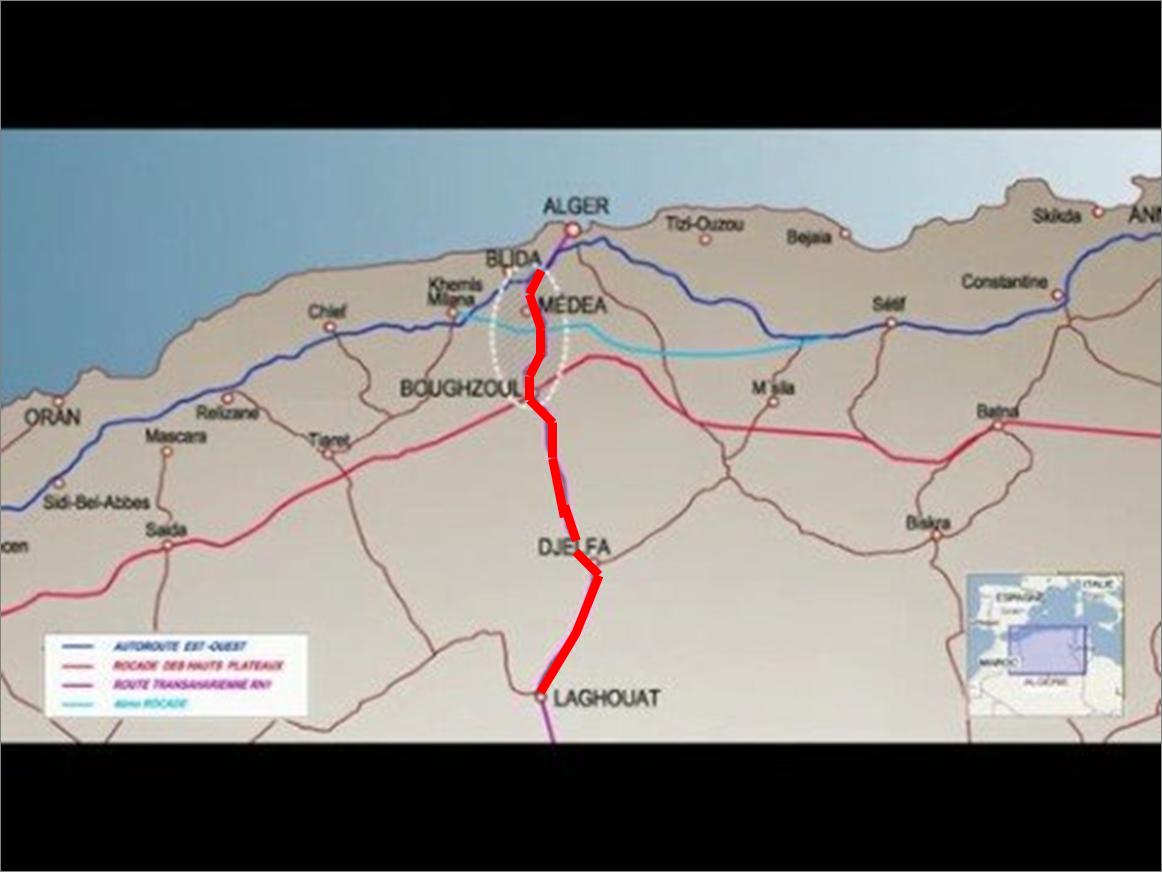 Carte Algerie Autoroute Est Ouest.Chiffa El Menea North South Highway 1013 Km Under
