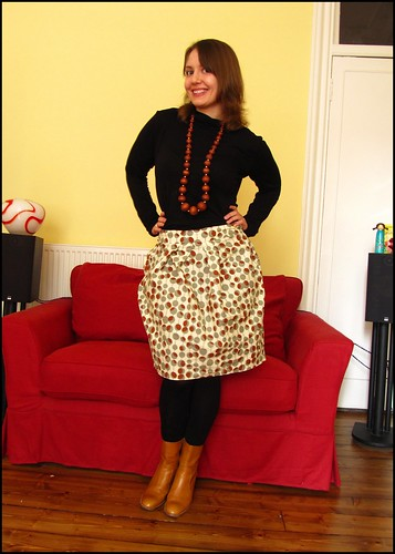 Dave made this skirt! fashion clothes style outfit thrift thrifted