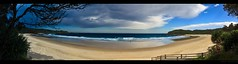 Coffs Harbour Storm (Adon Buckley) Tags: panorama sun beach water canon coast sand harbour pano australia buckley coffs adon adonhousepartybdannydance