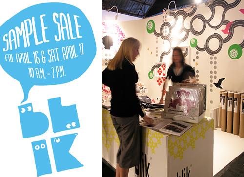Sample Sale at Blick